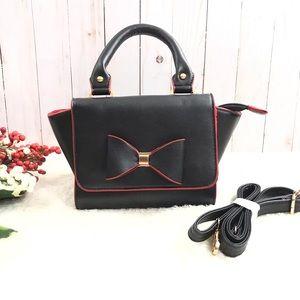 ⬇️$48 Olivia Miller Black & Red Mini Leather Bag